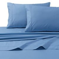 300-Thread-Count Premium Cotton Percale California King Sheet Set in Sky Blue