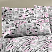 Mix and Match 330-Thread-Count 100% Cotton Sateen Standard Pillowcase in Black/White