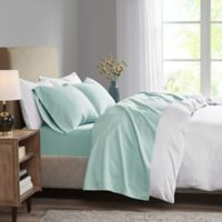Madison Park 3M Microcell Full Sheet Set in Seafoam