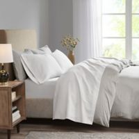Madison Park 3M Microcell Twin XL Sheet Set in White