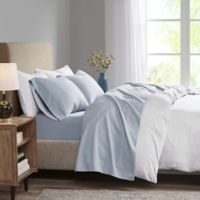 Madison Park 3M Microcell Twin Sheet Set in Blue
