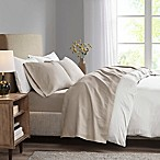 Madison Park 3M Microcell King Sheet Set in Khaki