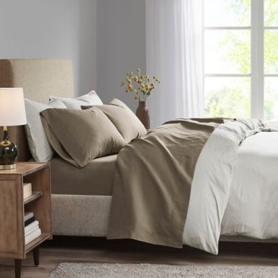 Madison Park 3M Microcell Twin Sheet Set In Brown