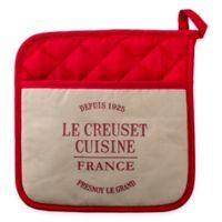 Le Creuset® Heritage Linen Pot Holder in Cherry