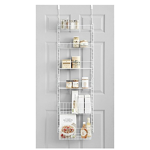 salt pantry organizer in white bed bath beyond. Black Bedroom Furniture Sets. Home Design Ideas