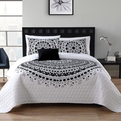 Buy Black And White Quilts From Bed Bath Beyond
