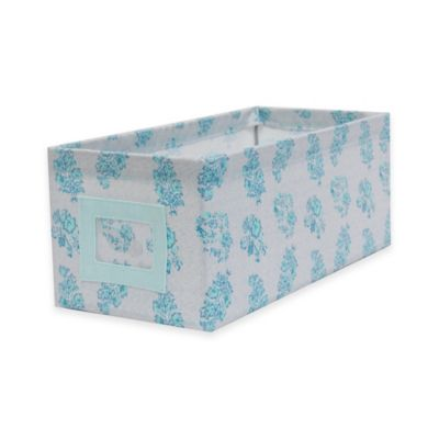 small canvas storage bin in dimity floral - Metal Storage Bins
