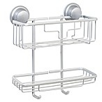 TITAN® Power Grip® NeverRust® Suction 2-Tier Shower Basket