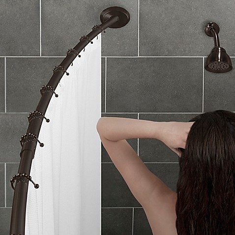 AlumiaTM Single Curved Shower Rod