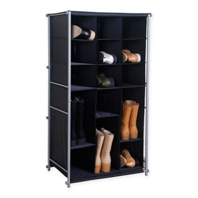 Fabric Boot And Shoe Organizer In Black