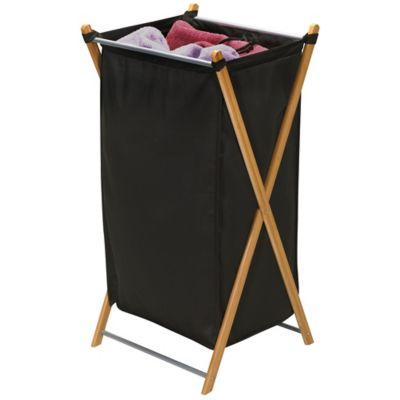 Household Essentials® Bamboo X Frame Laundry Hamper