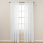 Caspia 84-Inch Rod Pocket Sheer Window Curtain Panel in White