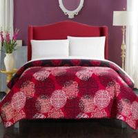 Chic Home Jennifer Reversible Queen Quilt in Red/Black