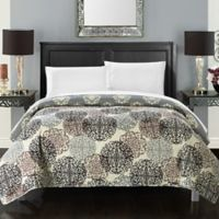 Chic Home Jennifer Reversible Twin Quilt in Beige/Grey