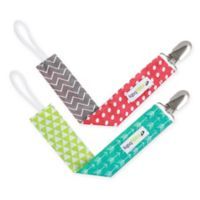 Ziggy Baby™ 2-Pack Pacifier Clip in Multicolor