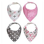 Ziggy Baby™ 4-Pack Bandana Bib Set in Pink