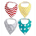 Ziggy Baby™ 4-Pack Bandana Bib Set in Multicolor