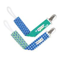 Ziggy Baby™ 2-Pack Pacifier Clip in Blue/Teal