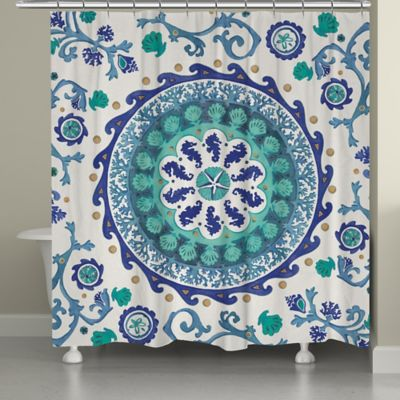 Laural Home® Coastal Medallion Shower Curtain