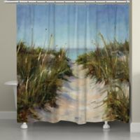 Laural HomeR Sand Dunes Shower Curtain In Blue Green