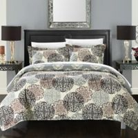 Chic Home Kerrie Queen Quilt Set in Beige