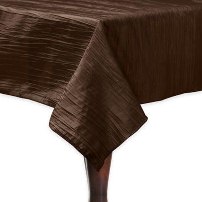 Delano 50 Inch Square Tablecloth In Brown
