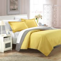 Chic Home Lugano 7-Piece Reversible Queen Quilt Set in Yellow