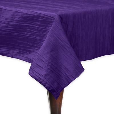 Delano 84 Inch Square Tablecloth In Purple