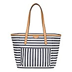 TWELVElittle® Everyday Tote in Black and White Stripe