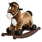 Rockin' Rider 2-in-1 Rocking Pony in Chocolate