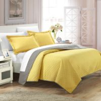Chic Home Lugano Reversible Queen Quilt Set in Yellow