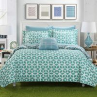 Chic Home Mirador 8-Piece Reversible King Quilt Set in Green