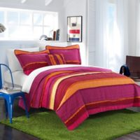 Chic Home Moretta Twin Quilt Set in Purple