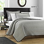 Chic Home Pisa Reversible King Quilt Set in Silver/Black