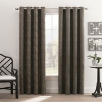 Hyde Park 108-Inch Grommet Top Window Curtain Panel in Charcoal