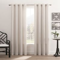 Hyde Park 84-Inch Grommet Top Window Curtain Panel in White