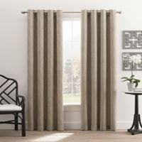Hyde Park 108-Inch Grommet Top Window Curtain Panel in Silver