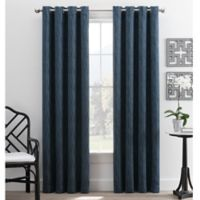 Hyde Park 84-Inch Grommet Top Window Curtain Panel in Navy