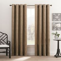 Hyde Park 84-Inch Grommet Top Window Curtain Panel in Taupe