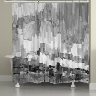 Laural HomeR Grey Glacier Shower Curtain