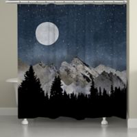 Laural Home® Midnight Mountain Shower Curtain