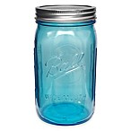 Ball® Collection Elite Wide Mouth Quart Mason Jars in Blue(Set of 4)