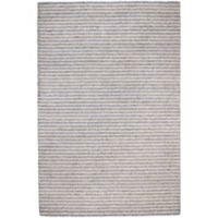 Trans-Ocean 3-Foot 6-Inch x 5-Foot 6-Inch Stripes Indoor/Outdoor Rug in Grey
