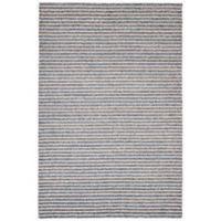Trans-Ocean 3-Foot 6-Inch x 5-Foot 6-Inch Stripes Indoor/Outdoor Rug in Denim