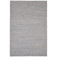 Trans-Ocean 7-Foot 6-Inch x 9-Foot 6-Inch Stripes Indoor/Outdoor Rug in Denim
