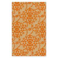Style Statements by Surya Mount Murray 2-Foot x 3-Foot Indoor/Outdoor Area Rug in Orange