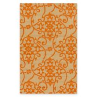 Style Statements by Surya Mount Murray 3-Foot x 5-Foot Indoor/Outdoor Area Rug in Orange