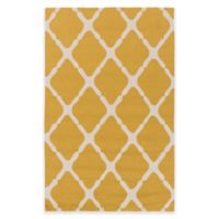 Style Statements by Surya 2-Foot x 3-Foot Masis Indoor/Outdoor Accent Rug in Gold/Grey