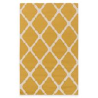 Style Statements by Surya 3-Foot x 5-Foot Masis Indoor/Outdoor Accent Rug in Gold/Grey