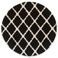 Style Statements by Surya 8-Foot Round Masis Indoor/Outdoor Area Rug in Charcoal